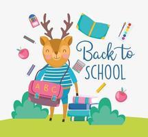 Deer back to school card template