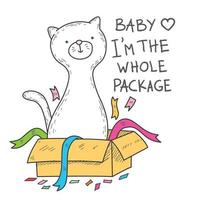 Baby I'm The Whole Package cat