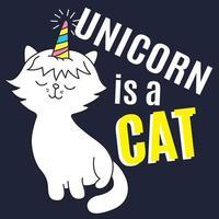 Unicorn Is a cat hand drawn.