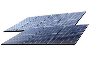 Photovoltaic solar power panel isolated