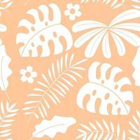 Tropical jungle plant pattern