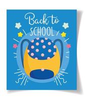 Back to school backpack card template