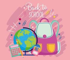 Pink back to school card template