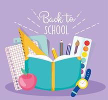 Back to school cute materials card template