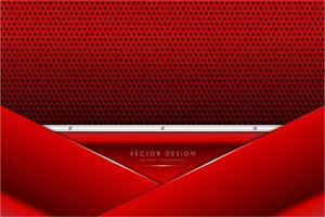 Metallic red and silver panels with carbon fiber texture