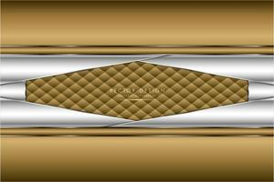 paneles angulados de oro y plata metalizados con textura de tapicería