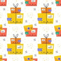 Package and letter safe delivery seamless pattern