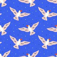 Gaviota volando en cielo de patrones sin fisuras