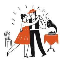 Lovers slow dancing