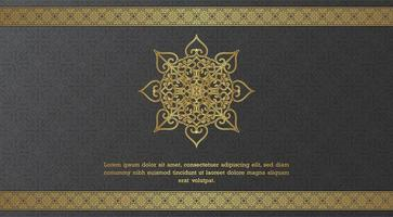 Elegant ornamental shape and border greeting card template  vector