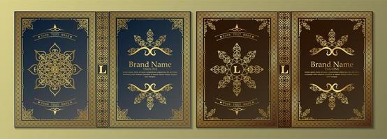 Luxury ornamental book covers vector