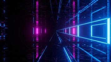 Light emitting cyber world tunnel