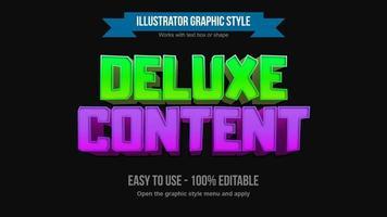 estilos de texto de dibujos animados en 3D de color verde brillante y púrpura vector
