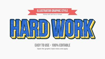 Blue and Yellow 3D Rusty Text Style vector