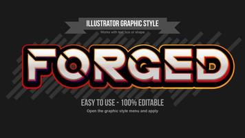 Orange Futuristic Metallic Sliced Bold Typography vector