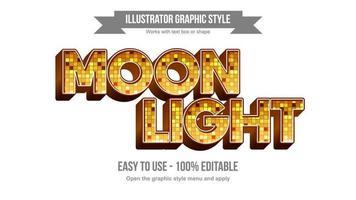 globo dourado luzes padrão elegante maiúsculas tipografia vetor