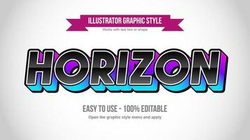 Purple and Blue 3D Black Glossy Uppercase Typography vector