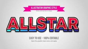 Red and Blue Glossy 3D Uppercase Letters vector
