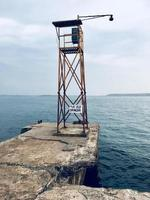 Watch tower with near body of water