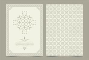 Antique gold greeting card