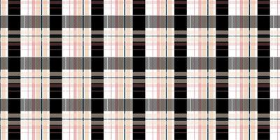 Pink and black plaid checkered seamless pattern vector