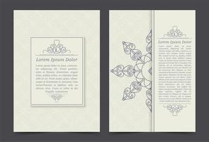 Vintage ornate covers  vector