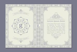 Ornamental book cover