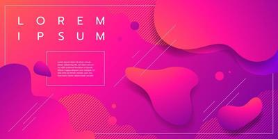 Purple and pink fluid gradient shapes design vector
