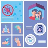 Infographic of coronavirus infection prevention methods vector