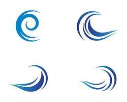 conjunto de iconos de símbolo de onda vector