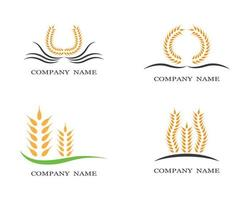 Wheat Symbol Icons Set vector