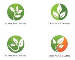 conjunto de ícones de logotipo de círculo de ecologia