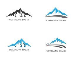 conjunto de logotipos de icono de montaña