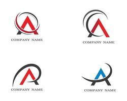 conjunto de iconos de símbolo de letra mayúscula '' a ''