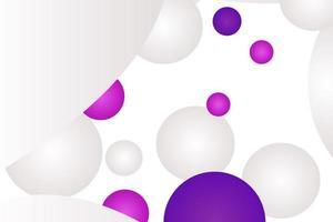 White and Purple Sphere Design