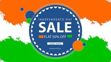 India Flag Style Sale Banner for Independence Day vector