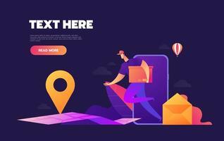 E-commerce delivery concept