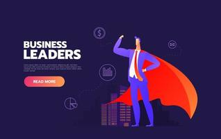 Business leader with cape vector