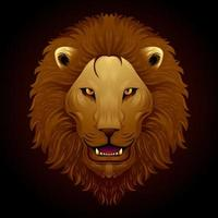 Roaring lion painting vector