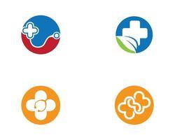 jeu d'icônes circulaire rond médical