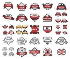 Set of Custom Emblems and Badges   vector