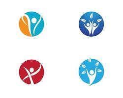 Healthy life round logo set