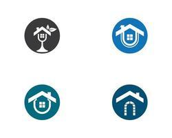jeu d'icônes de logo immobilier maison