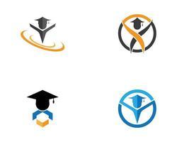 Education grad logo icon set  vector