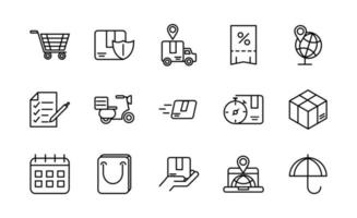 Set of logistics and delivery vector icons