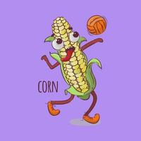 Corn Playing Volleyball