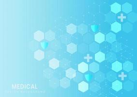 fondo médico hexagonal