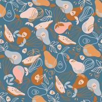 patrón textil pera