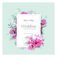 Floral Magenta Wedding Template
