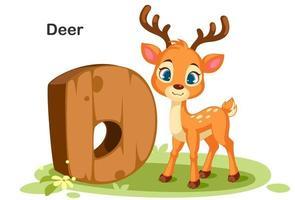 D for Deer vector